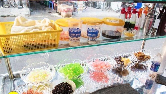 đa dạng các hương vị cốt trà và thạch.