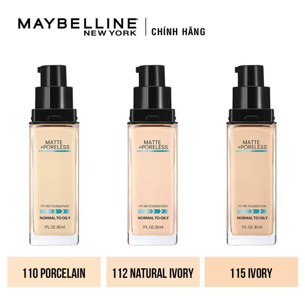 Fit Me Maybelline New York Matte Poreless Foundation