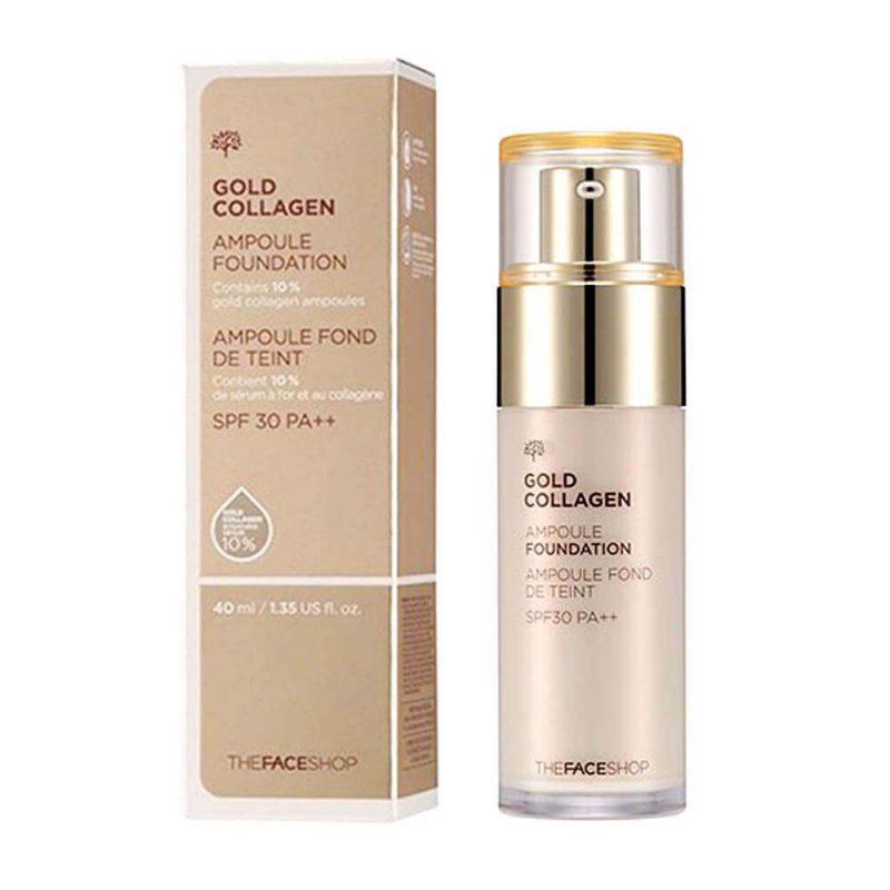 Gold Collagen Ampoule Foundation - The Face Shop