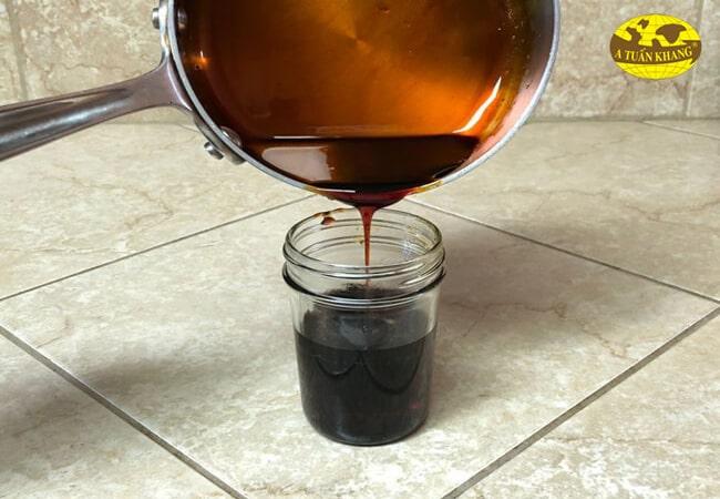 Bảo quản nước màu dừa