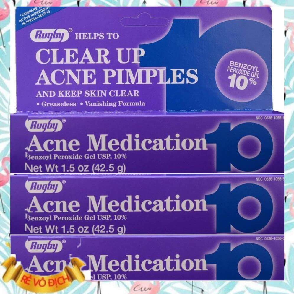 Rugby Acne Medication Gel Benzoyl Peroxide 10%