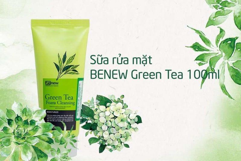 Trà Xanh Benew Green Tea Foam Cleansing