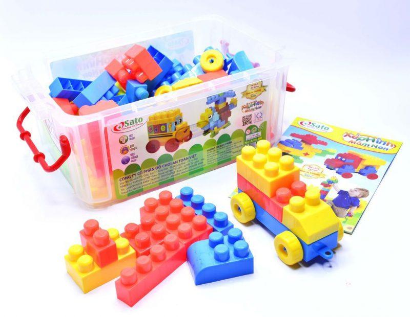 Hộp đồ chơi lego 100 chi tiết đồ chơi xếp hình cho trẻ