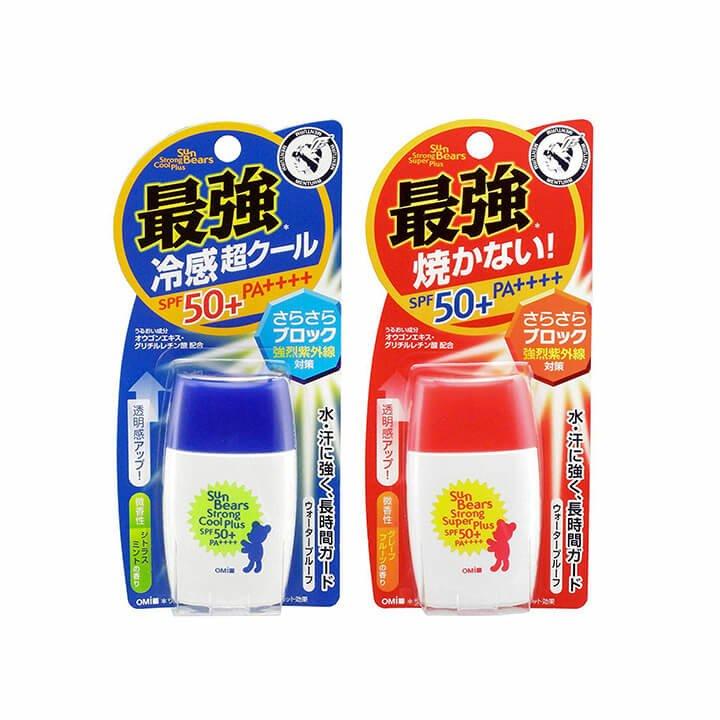 kem chống nắng không cồn và hương liệu