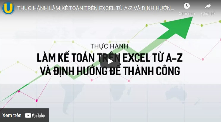 khóa học excel ứng dụng online