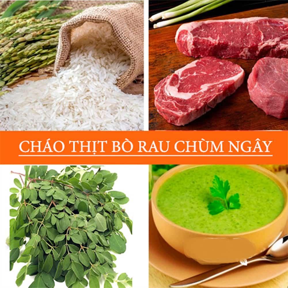 Bột Chùm Ngây Nấu Cháo Cho Bé