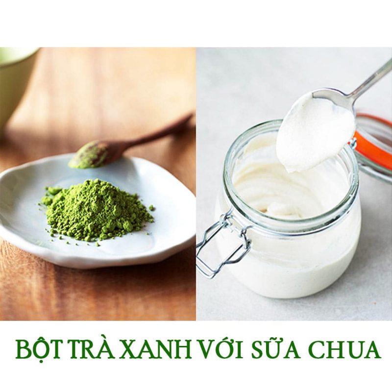 trà xanh với sữa chua