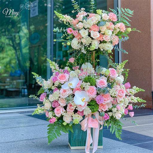 giỏ hoa tặng khai trương