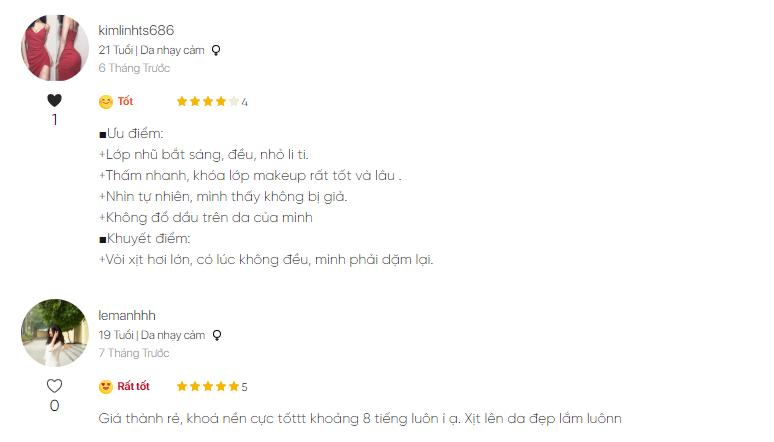 Một số phản hồi của khách hàng về sản phẩm